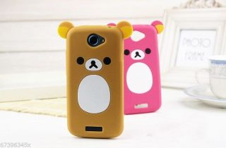 Lovely Cute Teddy Bear Silicone Soft Cover Case for Tmobile HTC One S
