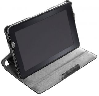 Kindle Fire Slim Black Leather Multi Stand Case Cover