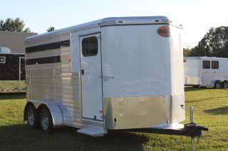 New 2013 Sundowner Stockman Sport 3 Horse Slant Load All Aluminum Trailer