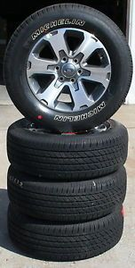"18"" 2010 2013 Ford F150 Pickup Factory Alloy Wheels with Michelin Tires Set of 4"