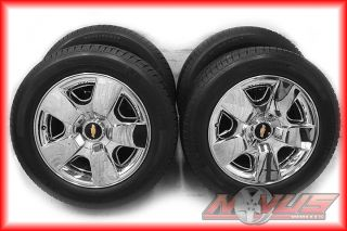 "20"" Chevy Silverado LTZ Tahoe Chrome Clad Factory Wheels Michelin Tires 22"
