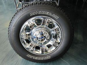 "20"" Ford F250 F350 Chrome Wheels and Michelin Tires"