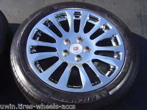 "18"" Chrome Wheels Michelin Tires 2011 2013 Cadillac cts Staggered 235 50 265 45"