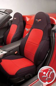 Coverking Neosupreme Custom Fit Front Seat Covers for Chevy Corvette C6