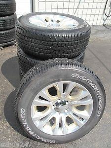 "20"" Dodge RAM 1500 Laramie Long Horn Edition Factory Wheels with Goodyear Tires"