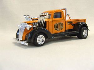 Majorette Hot Rods Orange Diecast Pickup Truck 1 32 Scale Hood Removeable Nice