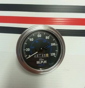Vtg Sun Speedometer Blue Line Hot Rods Rat Rods GM Mopar Pontiac Oldsmobile Ford