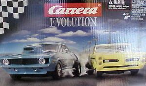 Carrera Drag Strip Slot Car Track Set 1960's Chevy Camaro Pontiac GTO Hot Rods