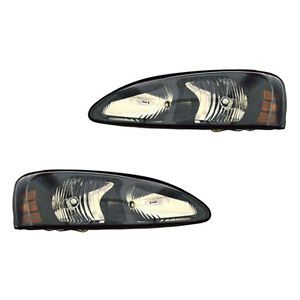 2004 2008 Pontiac Grand Prix Clear Head Light Lamp Headlight Assembly 1 Pair