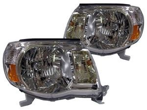 New Replacement Headlight Assembly Pair for 2005 08 Toyota Tacoma