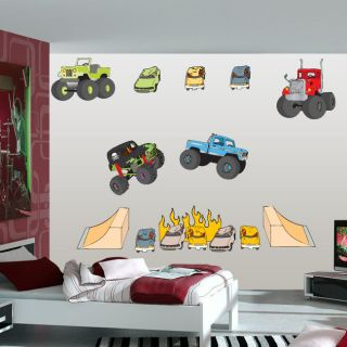 Monster Truck Wall Decal Kit by Kowalla