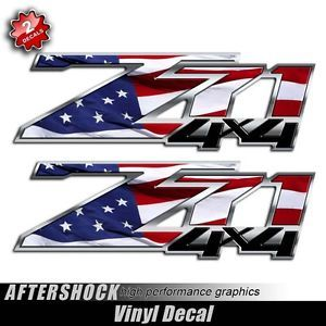 American Flag Z71 Truck Decals Silverado Decal USA Sticker