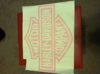 Pink Harley Davidson Back Window Truck Decals