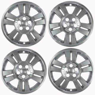 "4 PC Set 07 10 Ford Edge 17"" Chrome Wheel Skins Hubcaps Covers Hub Caps"
