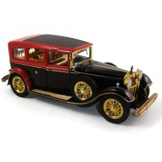 Alloy Model 1 32 Classic Rolls Royce Vintage Car Sound Light Two Doors Pull Red