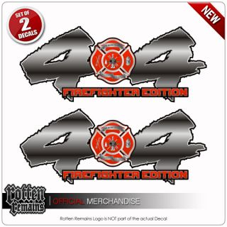 4x4 Firefighter Fire Rescue Truck Decal Sticker Set R50