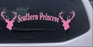Southern Princess Deer Hunting Car Truck Window Decal Sticker Pink 20in x 5 7in