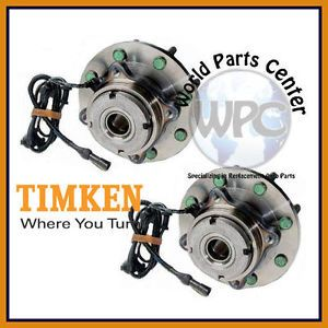 TIMKEN 2 Front Wheel Bearing Hub Assembly Ford Excursion F250 F350 F450 F550 ABS