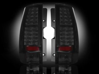 Recon Smoked LED Tail Lights 07 Suburban Tahoe Yukon