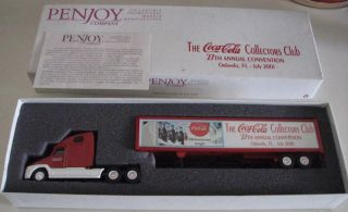 Penjoy Coca Cola Semi Truck 2001 Coke Convention New