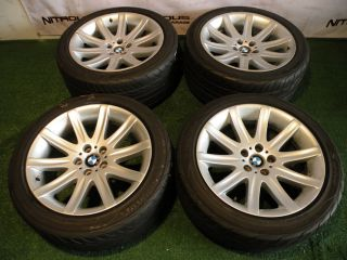 "19"" Factory BMW 7 Series Wheels 740 745 750 760 E38 E65 E66 Yokohama Tires"