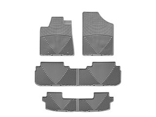 Weathertech® All Weather Floor Mats Toyota Highlander Hybrid 2008 2013 Grey