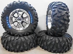 "ITP SS108 14"" Wheels Machined 28"" Bighorn Tires Polaris Sportsman RZR Ranger"