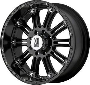 "18"" XD Series XD795 18x9 0 Hoss Wheels Falken Tires Black Rims Chevy Truck"