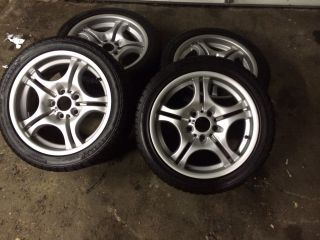 BMW E46 325 328 330 M3 Wheels with Snow Tires