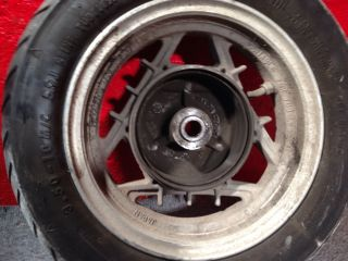 Yamaha Riva 125 Rear Wheel Rim Hub Tire 3 50 x 10 3 50x10 Moped Motion