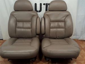 95 96 97 98 99 Chevy Tahoe Silverado Yukon Suburban Heated Leather Truck Seats