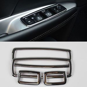 Chrome Interior Door Window Switch Cover Trims for Dodge Journey 2012 2013 2014