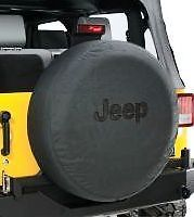 Jeep Wrangler JK TJ Black Denim Spare Tire Cover