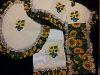 Sunflower Toilet Seat Cover Set