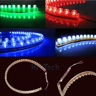 48cm 48LED PVC Flexible LED Strip Light Waterproof for Car Motorcycle Home HK