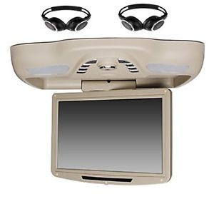 "12 1"" Roof Mount Car DVD Player with TV FM USB Transmitter Free Headphones"