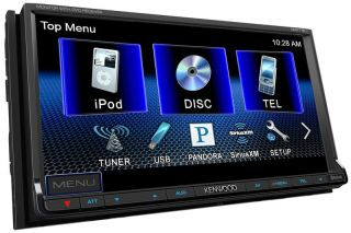 Kenwood DDX 719 in Dash LCD Touchscreen Double DIN Car Receiver Refurbished