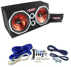 "XXX XBX1500 15"" 1500W Car Subwoofers Subs Amplifier 4 Gauge Amp Kit Sub Box"