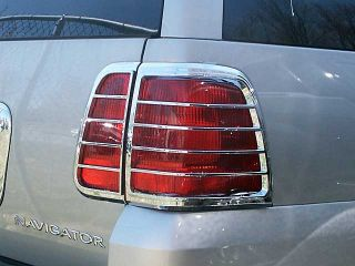 2003 2006 Lincoln Navigator 4pc ABS Chrome Tail Light Cover