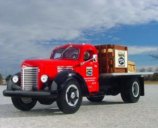 Awesome 1949 International Harvester KB8 Flatbed Truck w Load First Gear