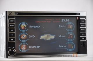 Chevy Double DIN DVD GPS Navigation Radio Touch Screen 2 DIN in Dash Chevrolet