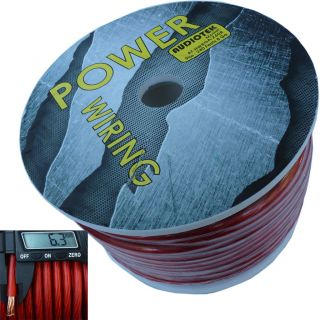 8 Gauge Super Flexible Wire 240 ft Red Roll Spool Feet AWG Hyperflex 240' USA