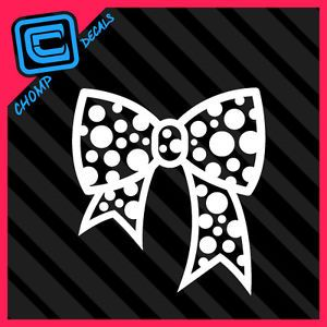 Polka Dot Bow Tie Girl Pink Cute Hello Kitty Car Decals Stickers