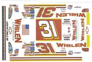 31 Steve Park Whelen Racing 1 64th HO Scale Slot Car Decals