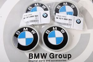 X4 Original BMW 3 Series Wheel Center Caps E36 E46 E90 E92 E93 325CI 335i M3 Z3