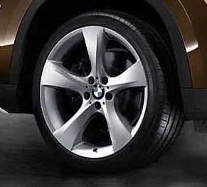 "BMW E84 x1 Silver Style 311 19"" Star Spoke Wheels Rims w Pirelli Tires New"