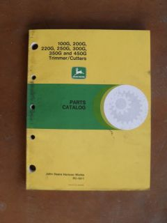 John Deere Trimmer Cutter 100g 200g 220g 250g 300g 350g 450G Parts Catalog