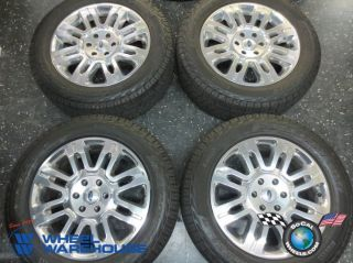 "Four 09 12 Ford F150 Expedition Factory 20"" Wheels Tires Rims 3788 Platinum"
