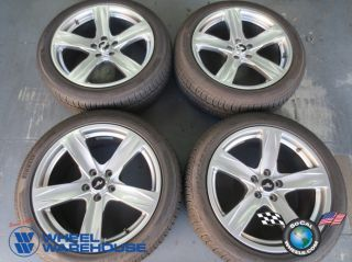 "Four 2013 Ford Mustang Factory 19"" Hypersilver Wheels Tires Rims 3910"