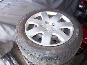 2008 Honda Civic 5 Lug Steel Rims Set 4 Like New Pirelli Tires 205 55 R16